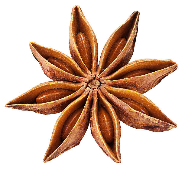 Anise star isolated on white background. Anise isolated on white background. Clipping path. star anise on white stock pictures, royalty-free photos & images