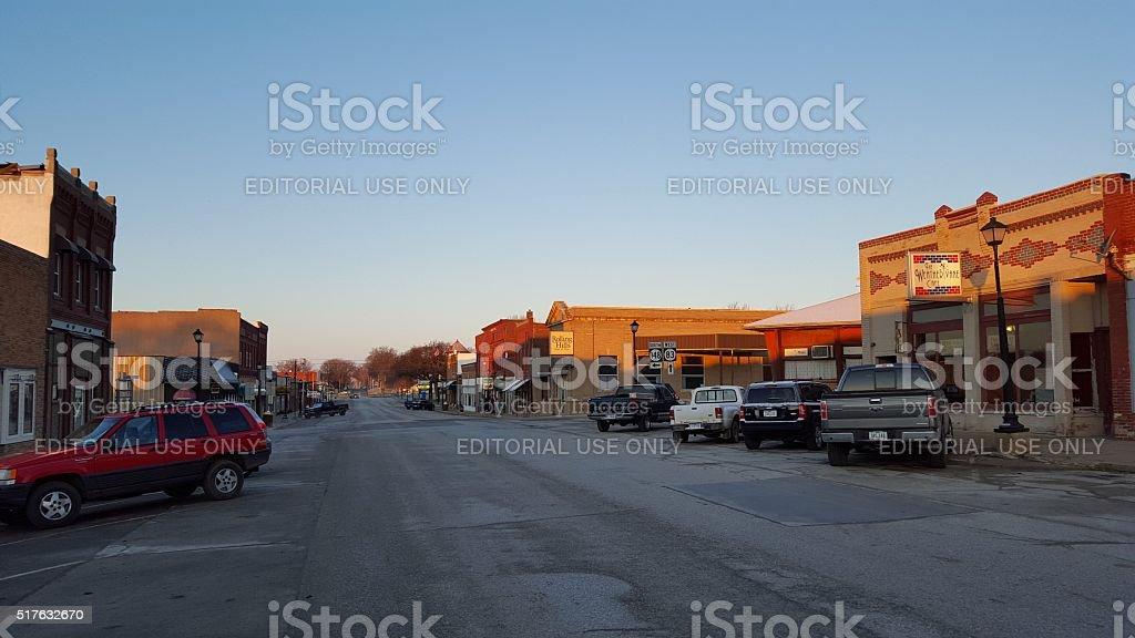 Anita, Iowa mainstreet stock photo