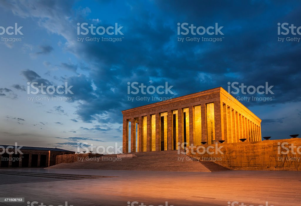 Anitkabir at Dusk stock photo