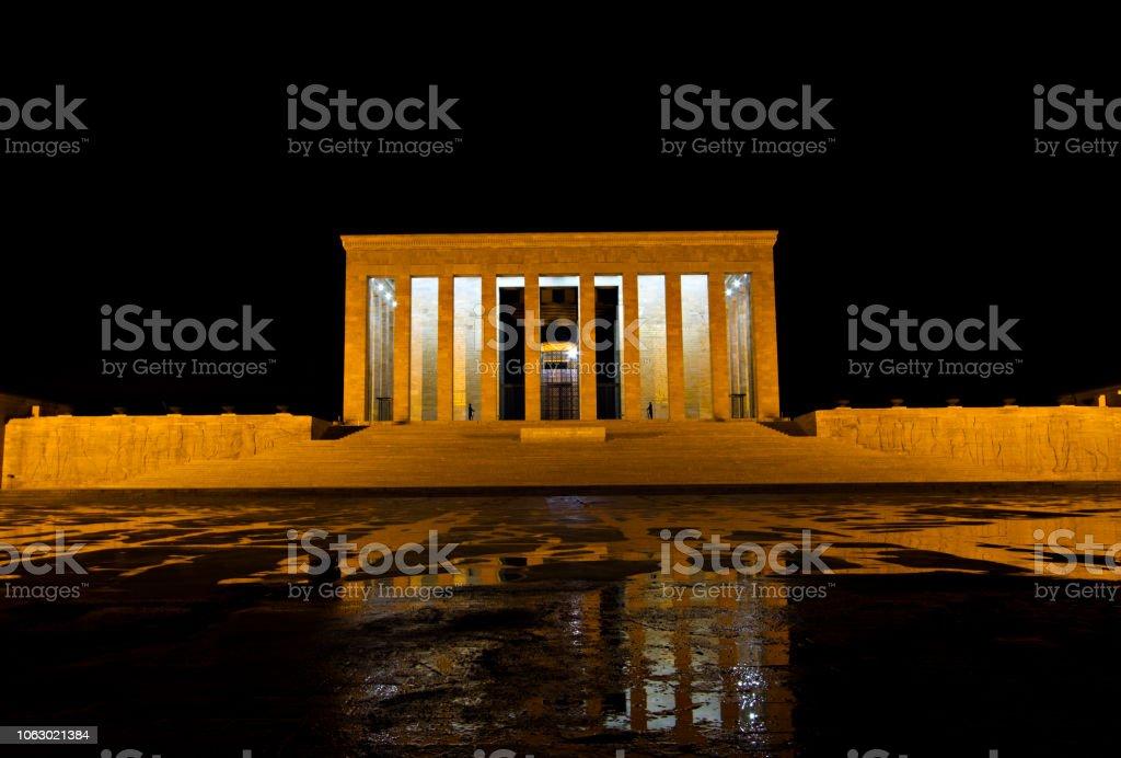Anitkabir geceleri stok fotoğrafı