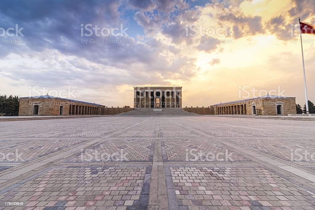 Anitkabir at Sunset stock photo