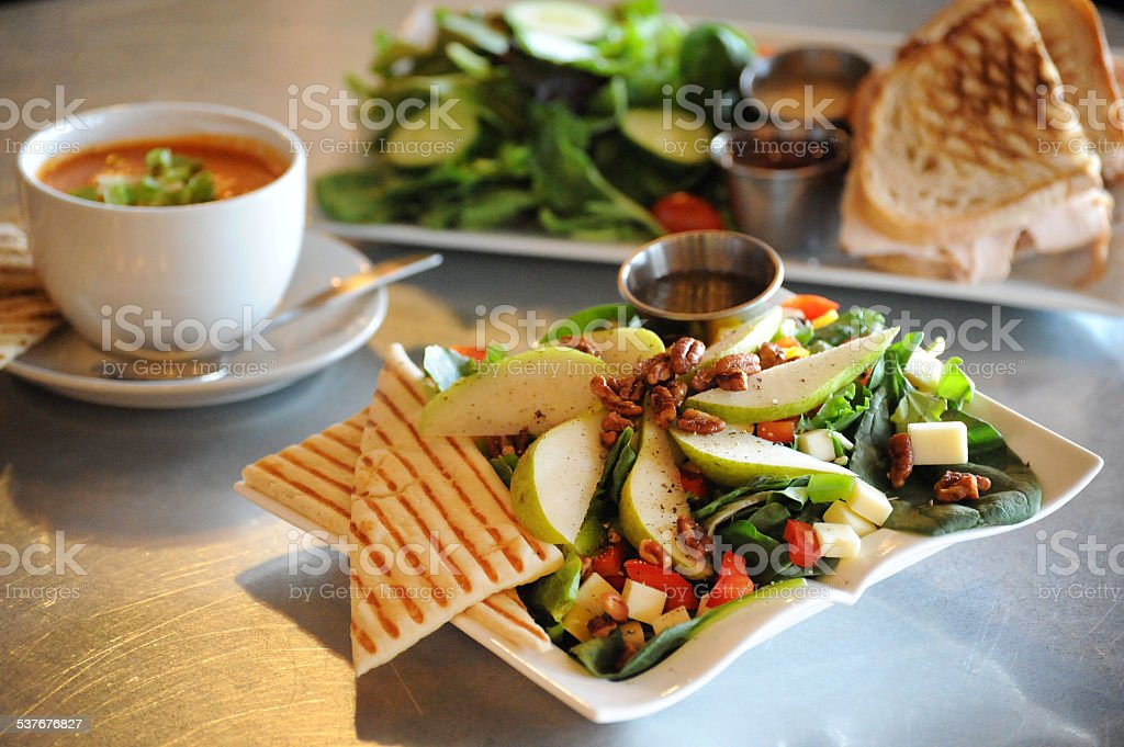 Anjou Asiago Salad Lunch Presented stock photo