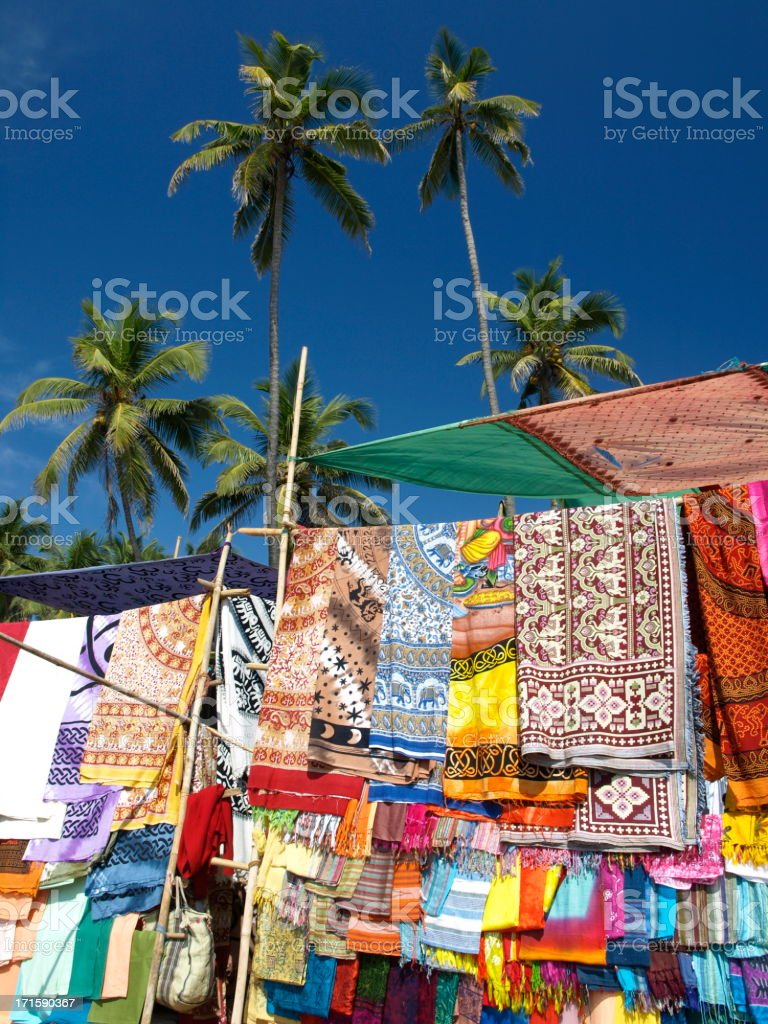 Anjuna, Goa, India. stock photo