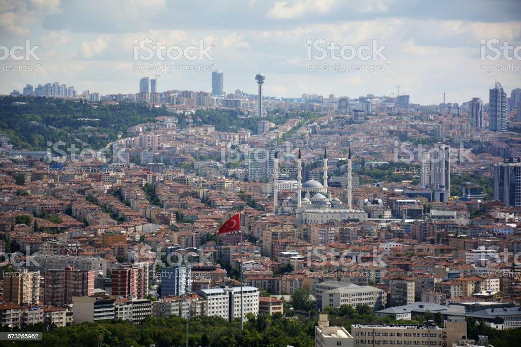 ankara, capital city of turkey - foto de stock