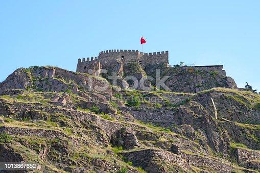 Ankara Castle on blue sky background