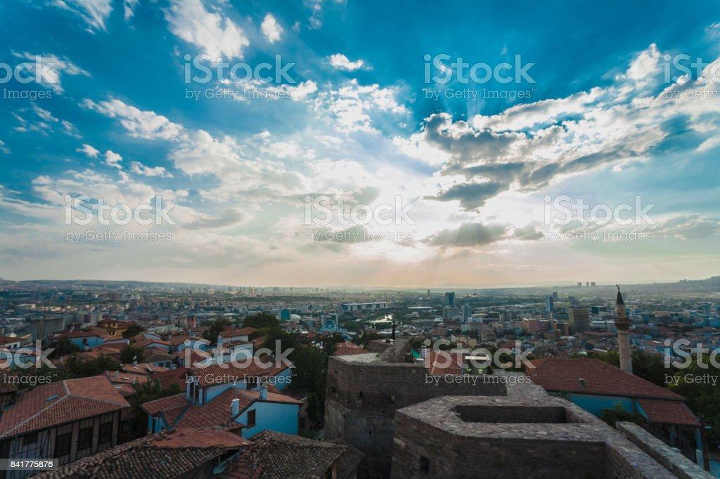 Ciudad de Ankara en Turquía - foto de stock