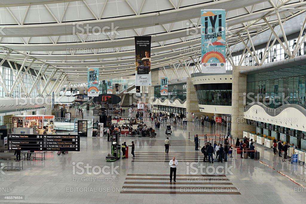 Ankara Esenboga Airport stock photo