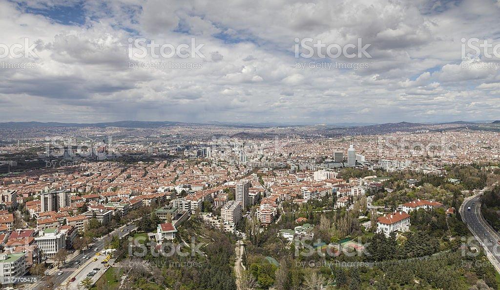 Ankara Skyline stock photo