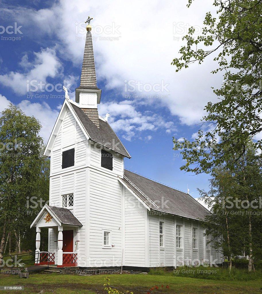 Ankarede Chapel - Lapland, Sweden stock photo