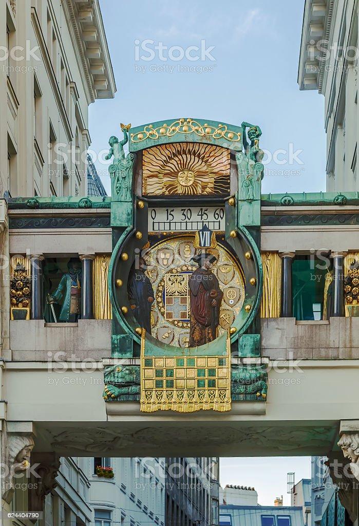 Anker Clock, Vienna stock photo