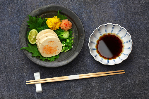 istock ankimo, steamed monkfish liver, japanese cuisine 1249596061