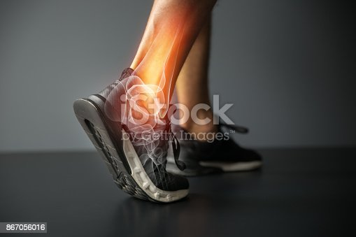 867056016istockphoto Ankle injury and Joint pain-Sports injuries 867056016