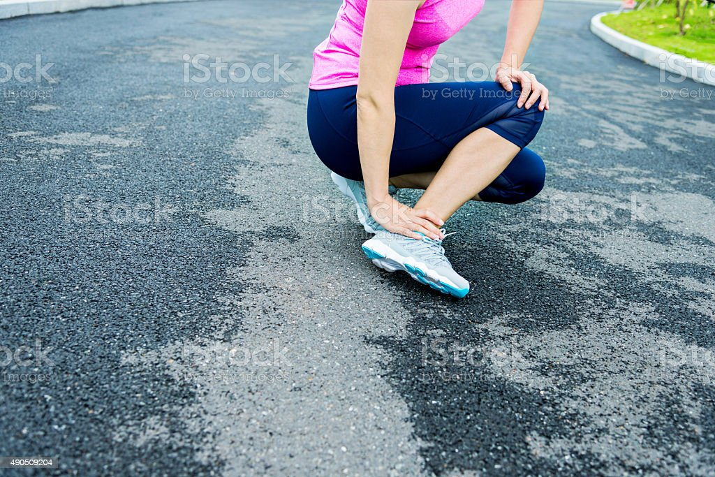 Ankle injury stock photo