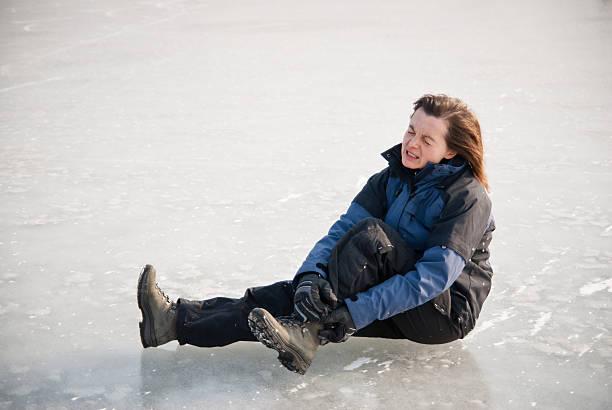 Knöchel Verletzungen winter-slip – Foto