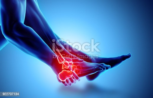 istock Ankle painful - skeleton x-ray. 922707134