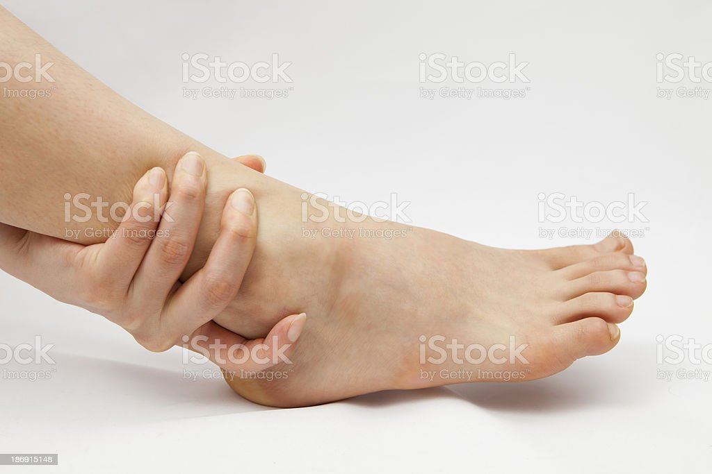 Knöchel Verletzung Lizenzfreies stock-foto