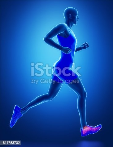 istock ANkle - running man leg scan in blue 611783702