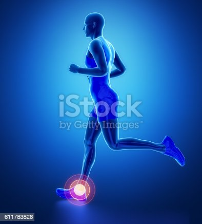 istock ANkle - running man leg scan in blue 611783826