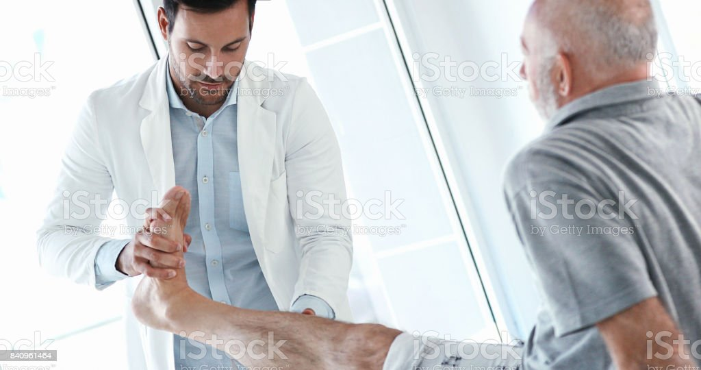 Ankle therapy. stock photo