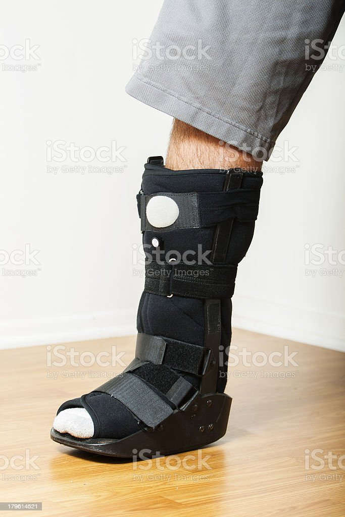 Ankle Walker with Pneumatic Pump stock photo