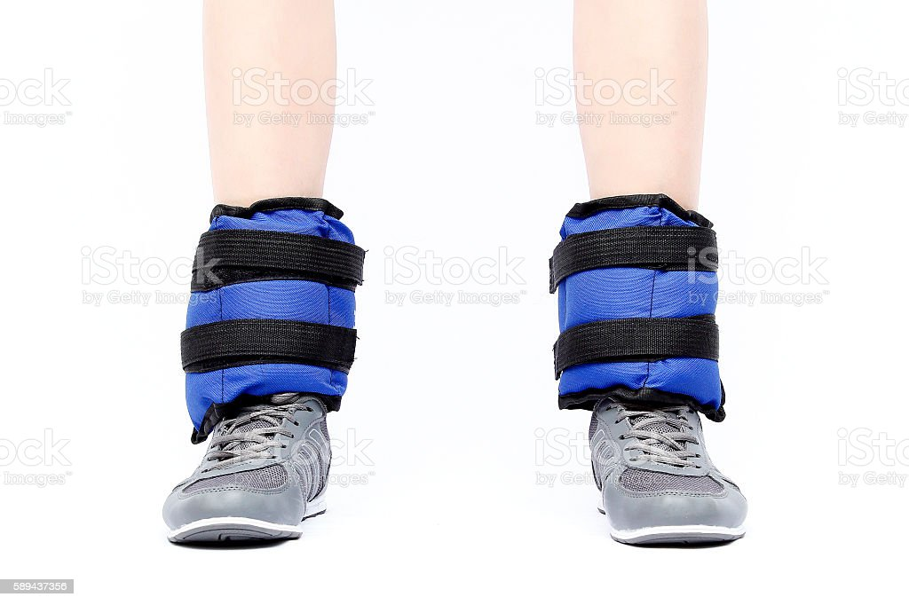 Ankle weights stock photo