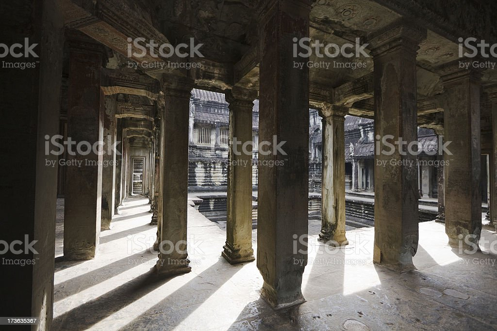 Ankor Wat Passage royalty-free stock photo