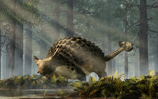 Ankylosaurus In A Forest Stock Photo - Download Image Now