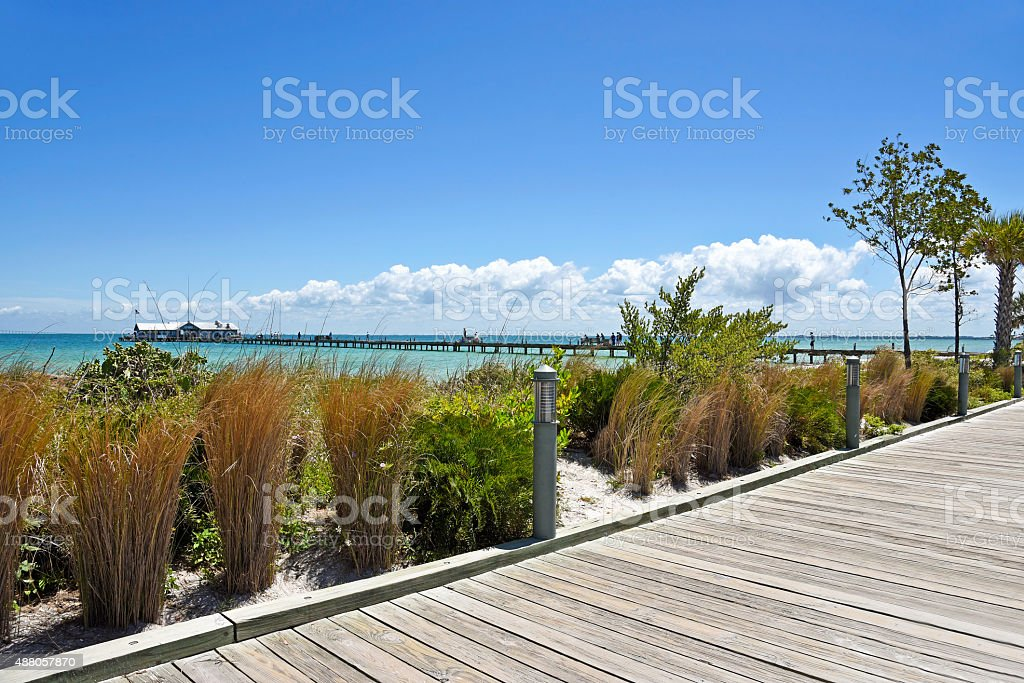 Anna Maria City Pier stock photo