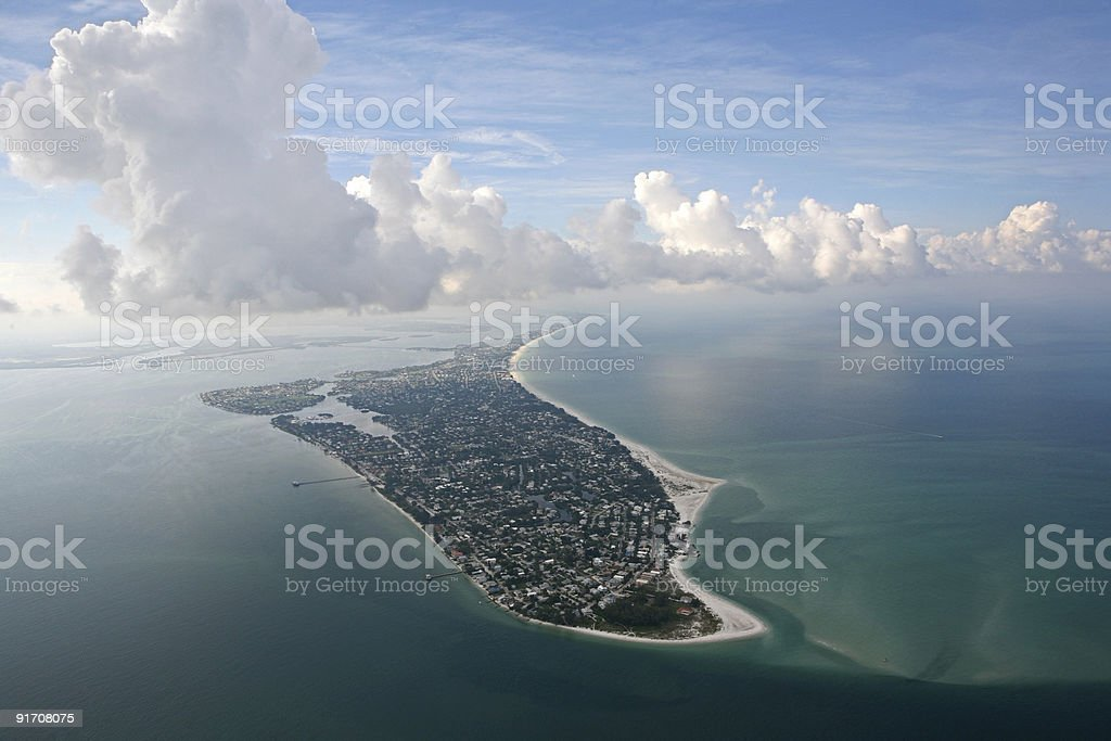 Anna Maria Island aerial photo stock photo