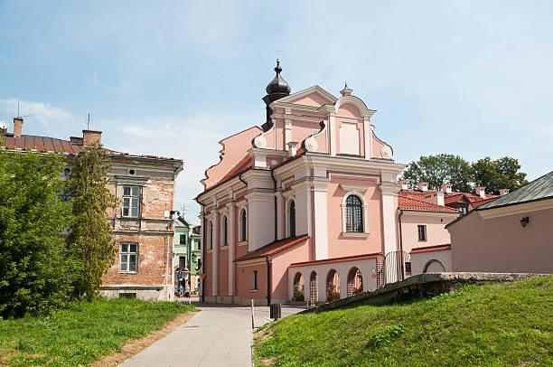 Anna Saint Church in Zamosc stock photo