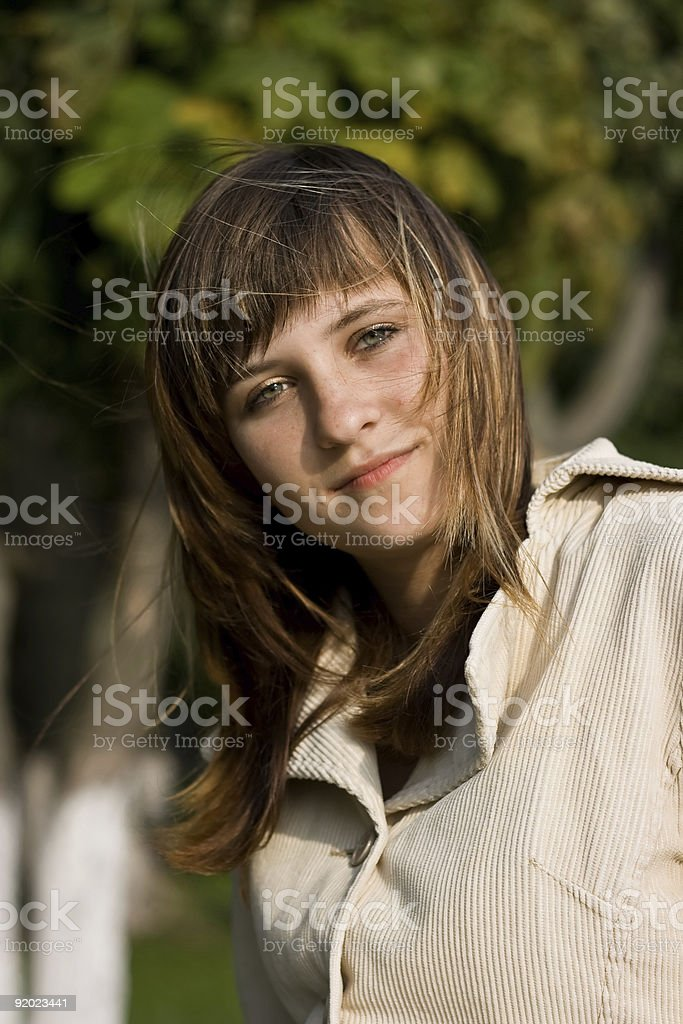 Anna & Wind royalty-free stock photo