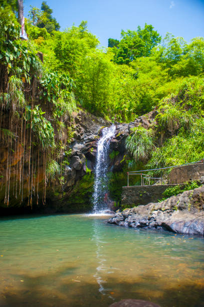 Annandale Falls on the island of Grenada stock photo
