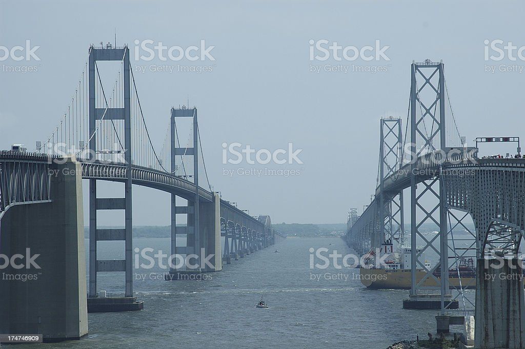 Annapolis Bay Bridge royalty-free stock photo