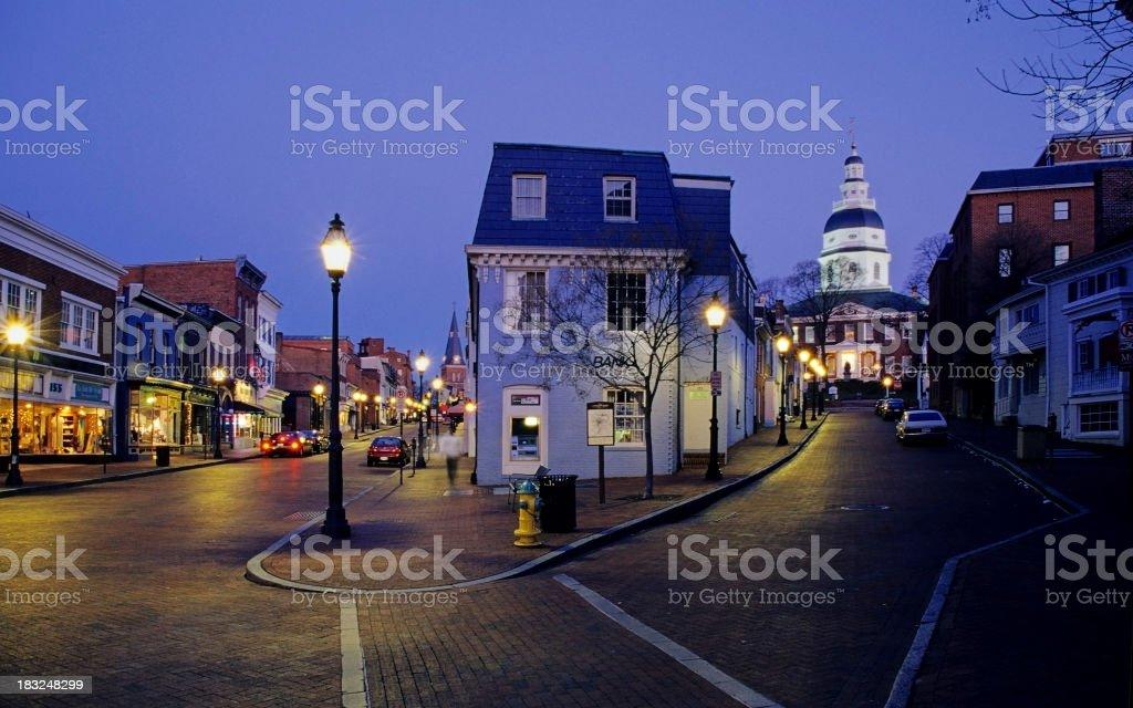 Annapolis City Center stock photo