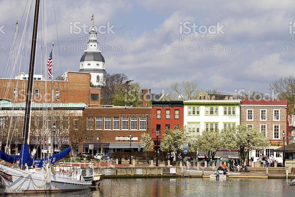 Annapolis Downtown Harbor stock photo