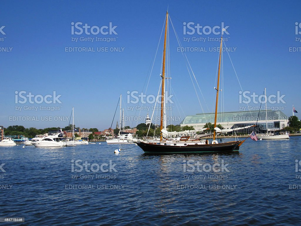 Annapolis Harbor,  Annapolis, Maryland, USA stock photo