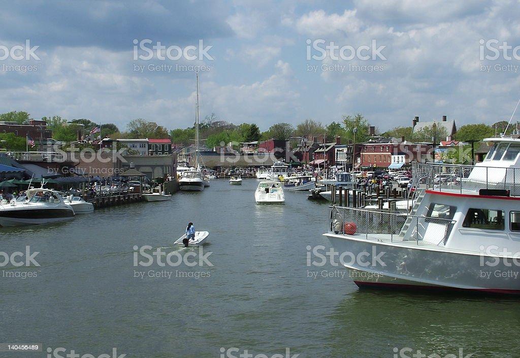 Annapolis Harbor stock photo