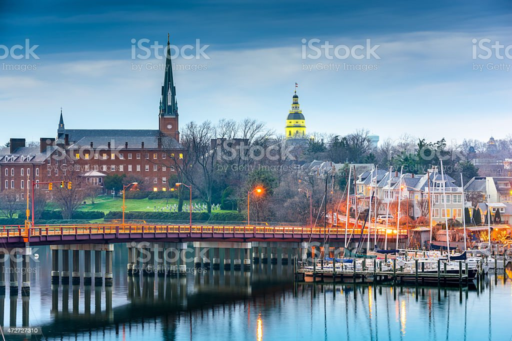 Annapolis Maryland on the Chesapeake Bay stock photo