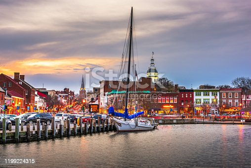 istock Annapolis, Maryland, USA from Annapolis Harbor 1199224315