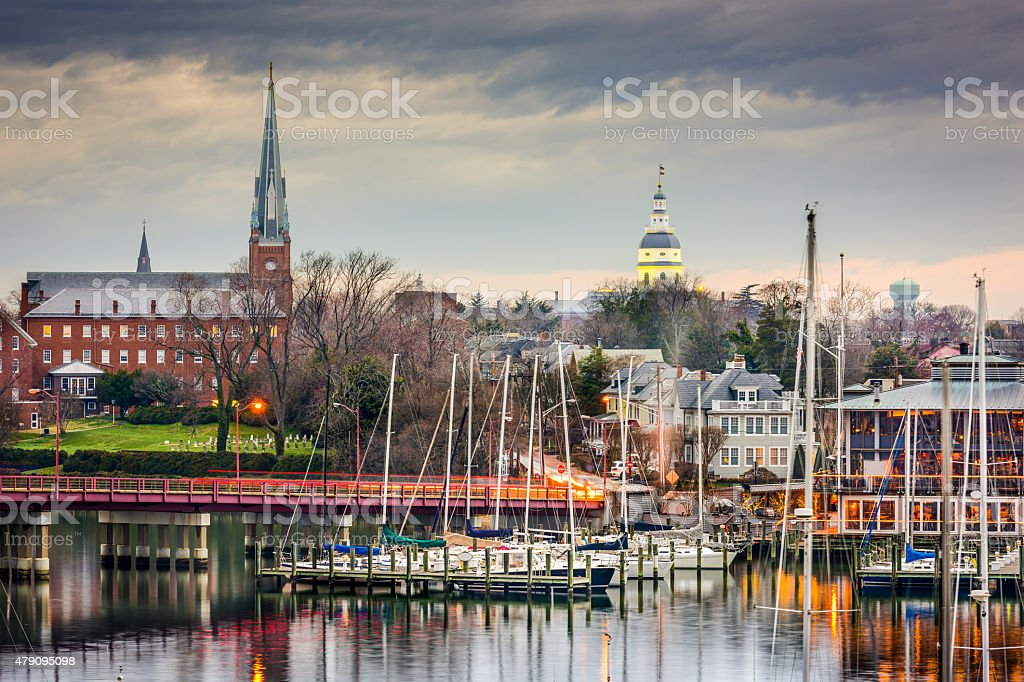 Annapolis Skyline stock photo