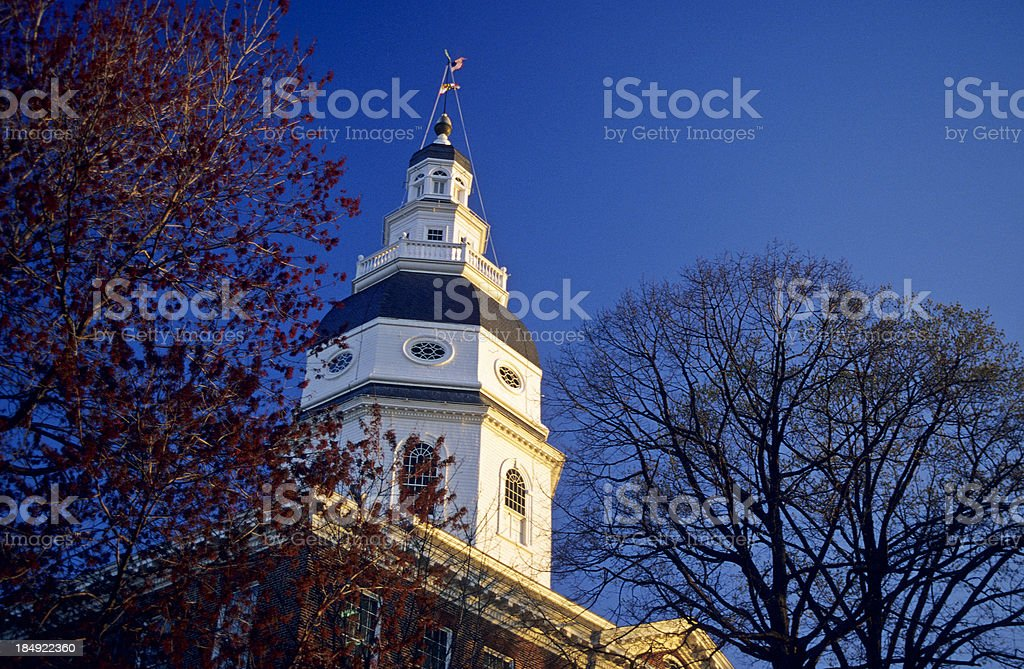 Annapolis State House royalty-free stock photo