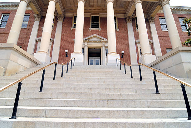 Annapolis State House Steps in Maryland USA stock photo