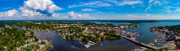 Annapolis,MD Skyline Aerial stock photo