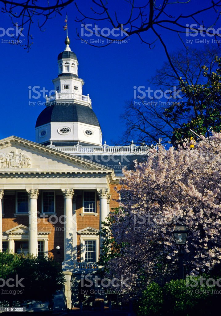 Annapols State House stock photo