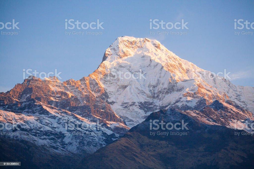 Himalaya Berge Karte.Annapurna Gebiet Berge Im Himalaya Nepal Stockfoto Und Mehr