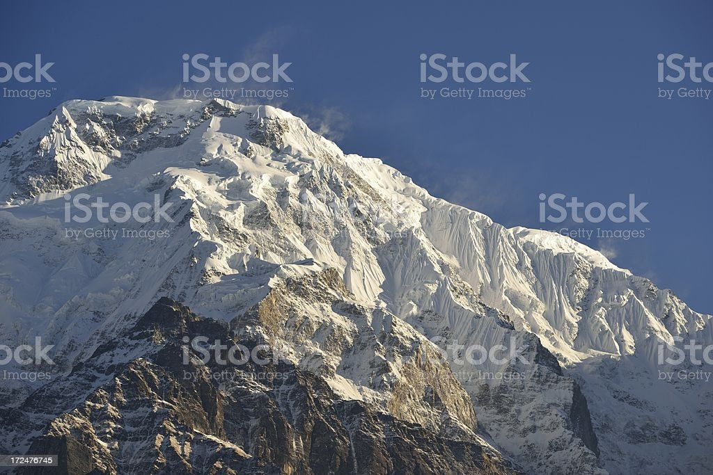 Annapurna south after sunrise royalty-free stock photo