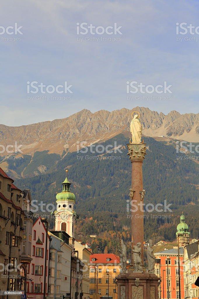 Annasaule Column in Insbruck stock photo
