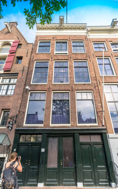 Anne Frank House, Amsterdam, Netherlands stock photo