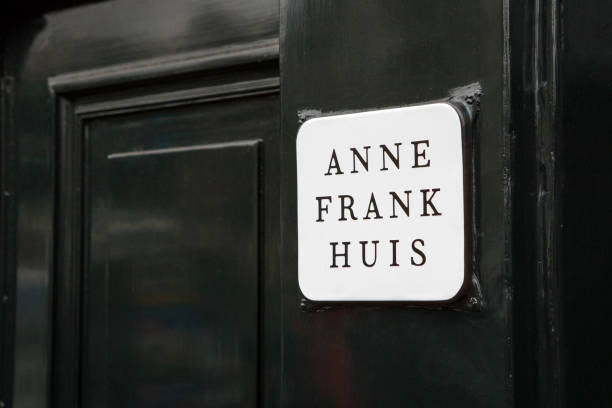 Anne Frank House in Amsterdam, Netherlands stock photo