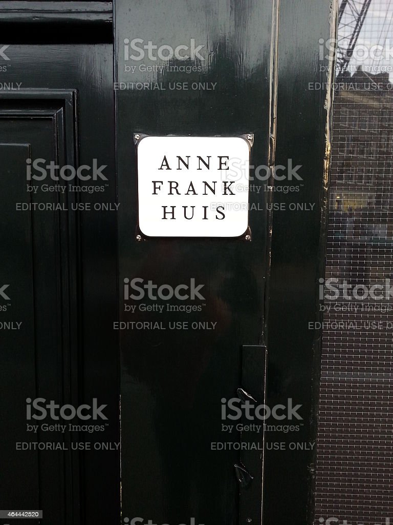 Anne Frank House in Amsterdam stock photo